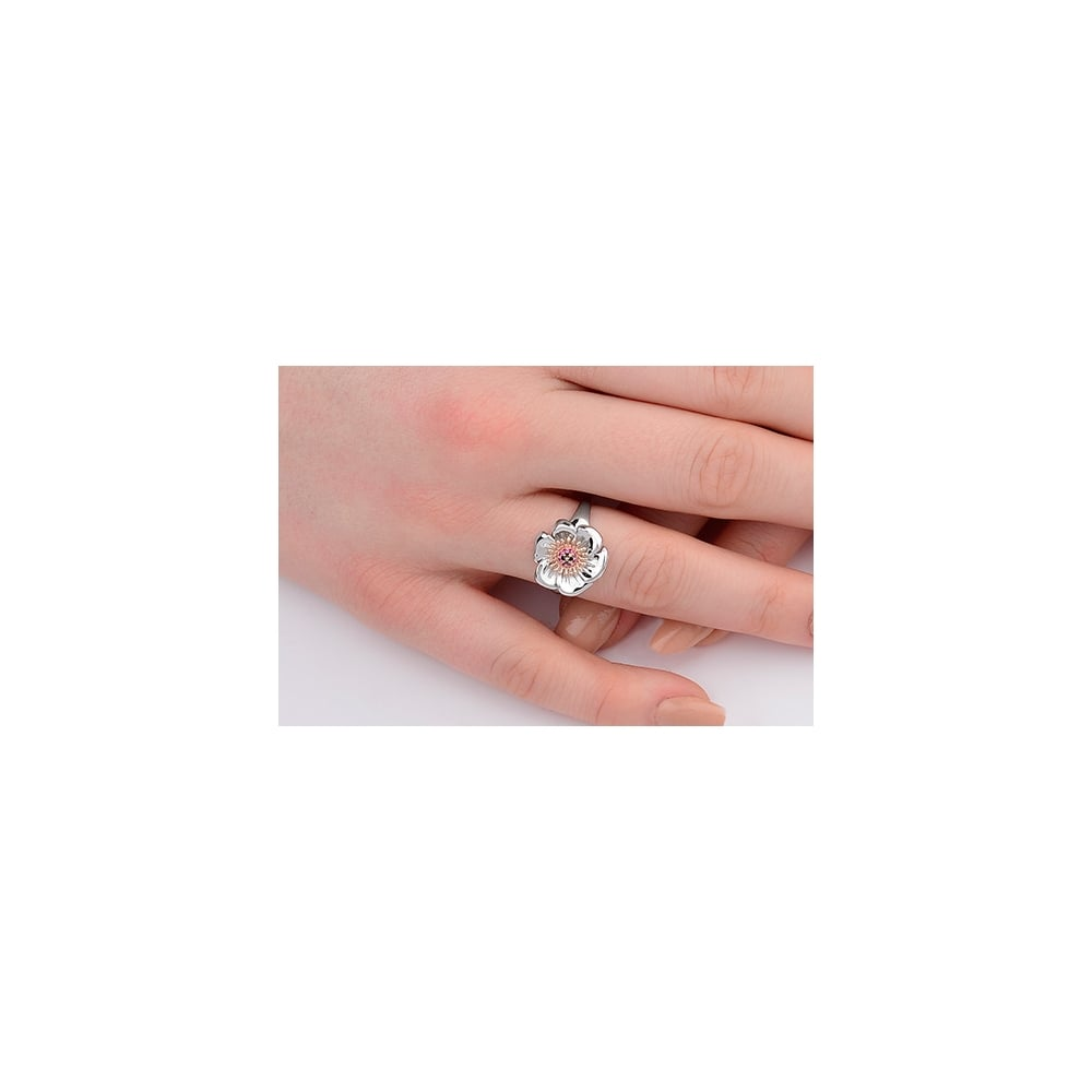 Clogau Gold Welsh Poppy Ring - Jewellery from 925 Treats UK