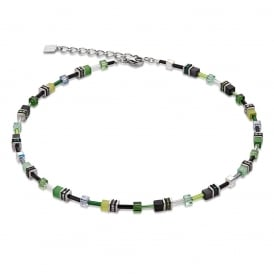 Geo Cube Green Necklace