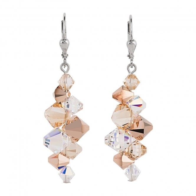 Coeur De Lion Rose Gold Swarovski Earrings