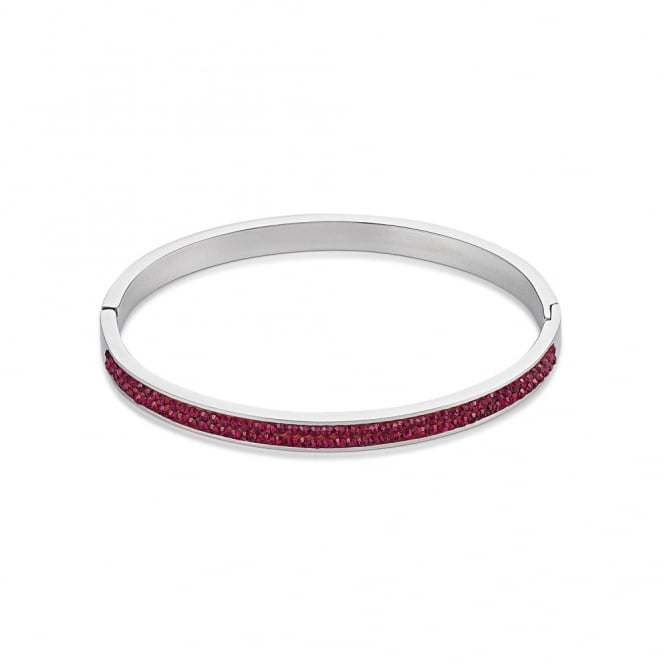 Coeur De Lion Sparkly Ruby Crystal Bangle
