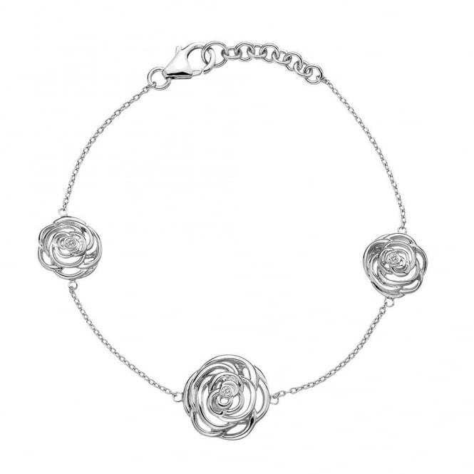 Hot Diamonds Eternal Rose Silver Diamond Bracelet