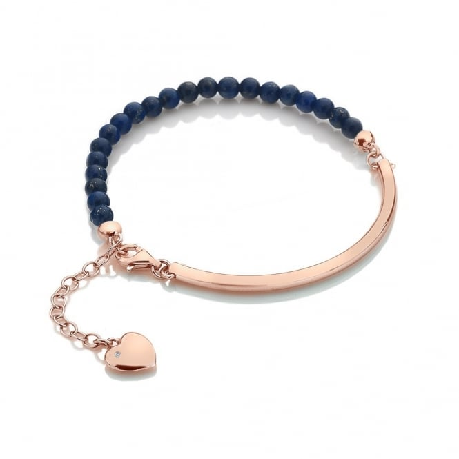 Hot Diamonds Festival Blue Lapis Rose Gold Plated Bracelet