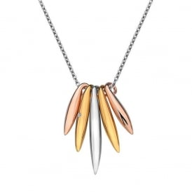 Hot Diamonds Icicle Drop Necklace- Silver, Rose Gold, Gold