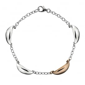 Hot Diamonds Rose Gold Plated Sterling Silver Mirage Bracelet