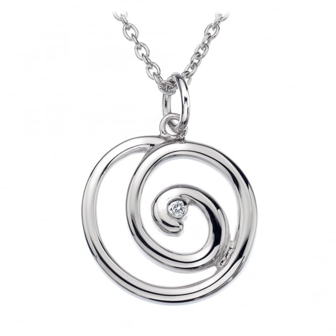 Hot Diamonds Silver Eternity Spiral Pendant