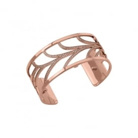 Les Georgettes 25mm Courbe Rose gold Cuff Bracelet