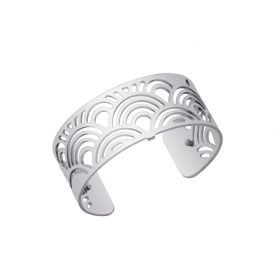 Les Georgettes Poisson 25mm Silver Plated Metal Cuff Bracelet