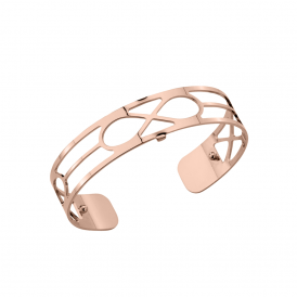 Les Georgettes Rose Gold Plated Infinite Pattern 14mm Cuff Bracelet