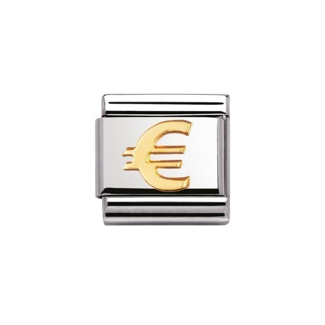 Nomination 18ct Gold Euro Charm