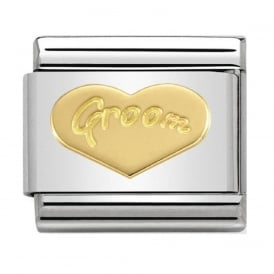 Nomination 18ct Gold Groom Heart Charm
