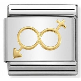 Nomination 18ct Gold Him & Her Infinity Charm