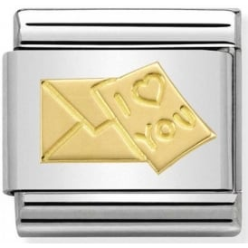 Nomination 18ct Gold Love Letter Charm