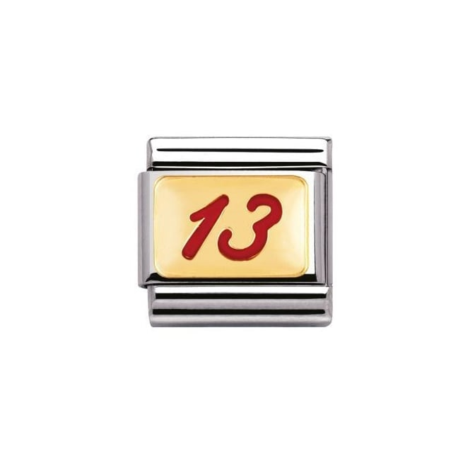 Nomination 18ct Gold Lucky 13 Charm