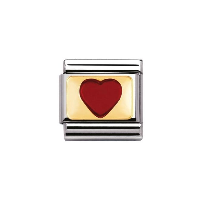 Nomination 18ct Gold Red Heart Charm
