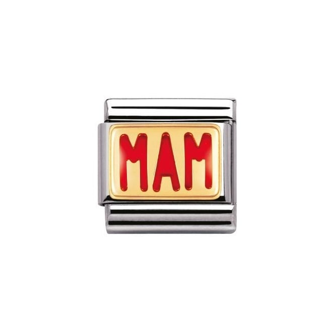 Nomination 18ct Gold Red Mam Charm