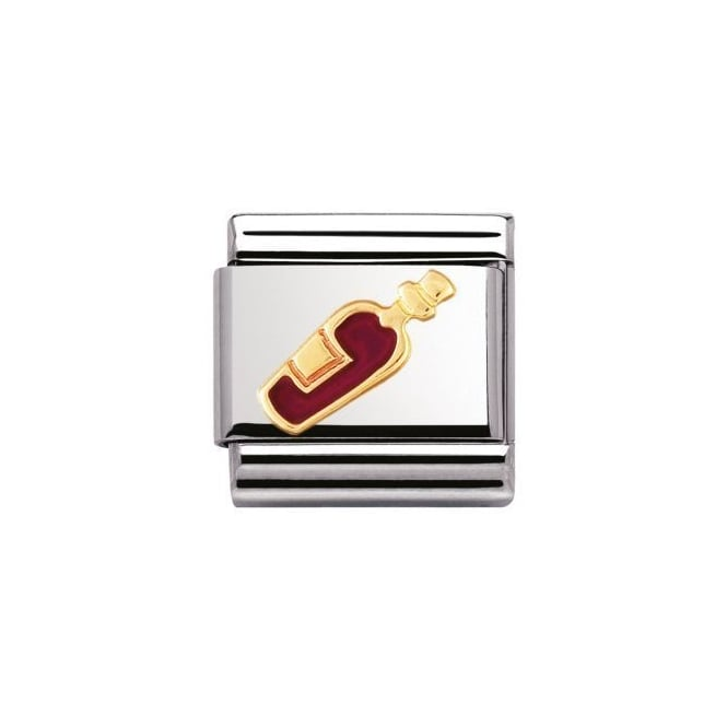 Nomination 18ct Gold Red Wine Charm