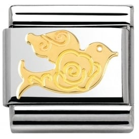 Nomination 18ct Gold Rose Dove Charm