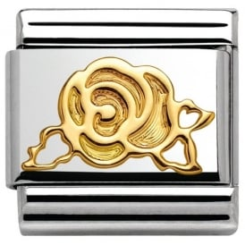 Nomination 18ct Gold Versailles Rose Charm