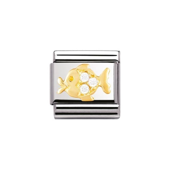 Nomination 18ct Gold White fish Charm