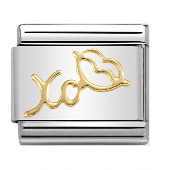 Nomination 18ct Gold XO Lips Charm
