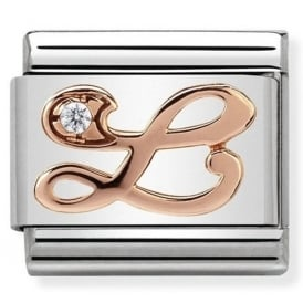 Classic Letter L Rose Gold Charm