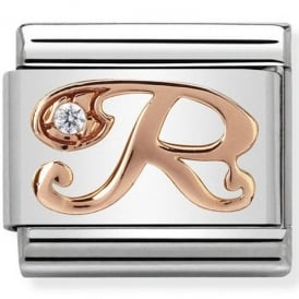 Classic Letter R Rose Gold Charm