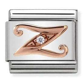 Classic Letter Z Rose Gold Charm