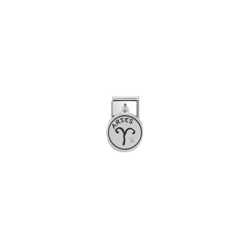 Nomination Classic Silver Aries Zodiac Dangly Charm
