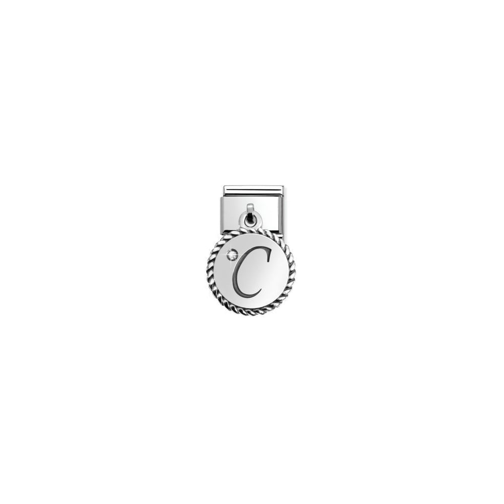 Nomination Classic Dangly Silver Letter C Charm  e16528ac5