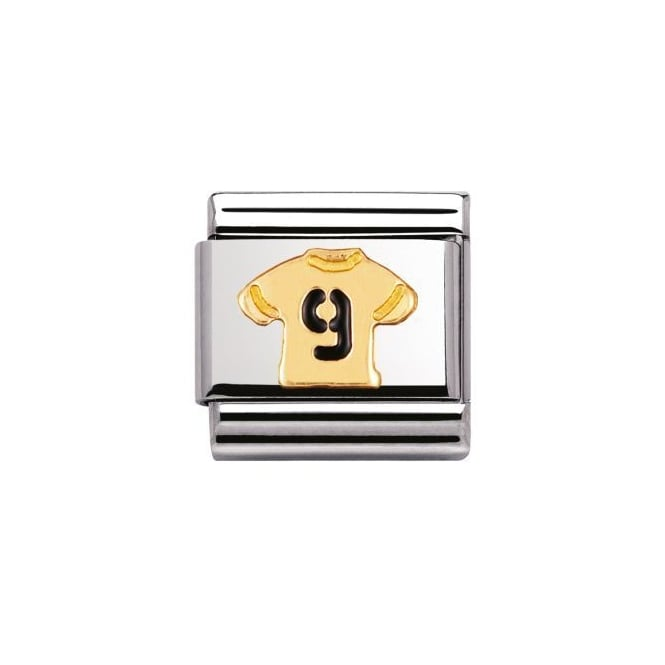Nomination Number 9 Football Shirt Charm