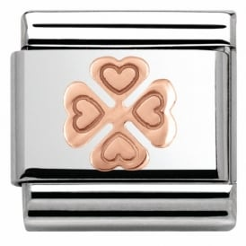 Rose Gold Clover Charm