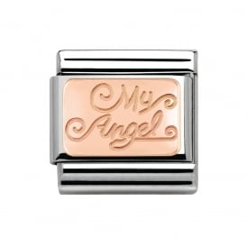 Rose Gold My Angel Charm