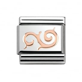 Rose Gold Swirl Charm