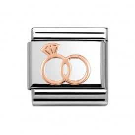 Rose Gold Wedding Rings Charm