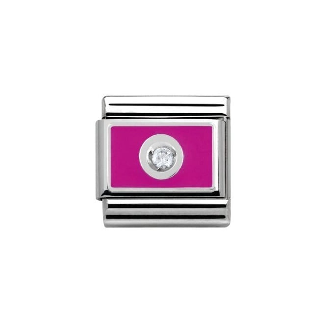 Nomination Silver CZ Pink Charm
