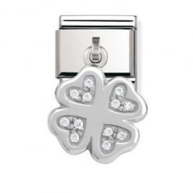 Nomination Silver Dangly Clover Charm