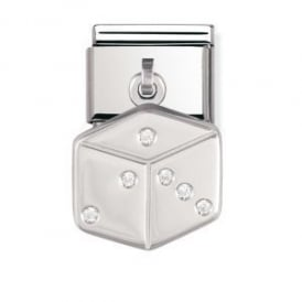 Nomination Silver Dangly Dice Charm