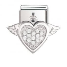 Nomination Silver Dangly Heart Charm