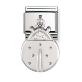 Nomination Silver Dangly Ladybird Charm
