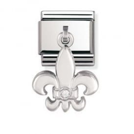 Nomination Silver Dangly Lily Charm
