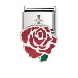 Nomination Silver Dangly Rose Charm