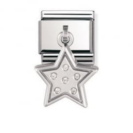 Nomination Silver Dangly Star Charm