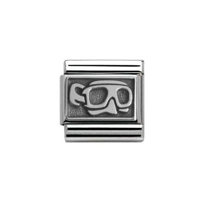 Nomination Silver Divers Mask Charm