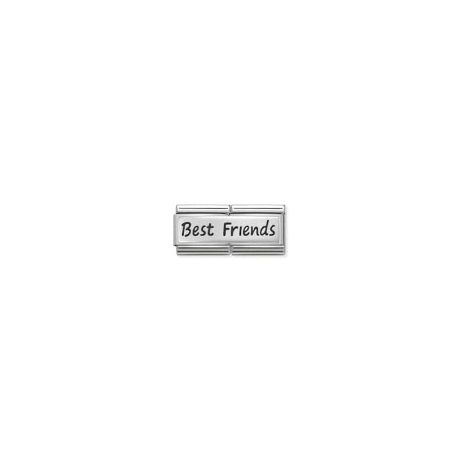 Nomination Silver Double Best Friends Charm