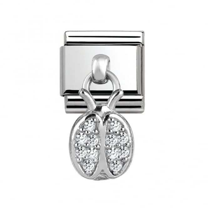 Nomination Silver Ladybird Dangly Charm