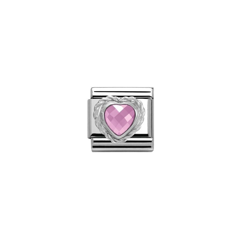 Nomination Classic Pink Heart Stone Charm 0a38e841fb0d