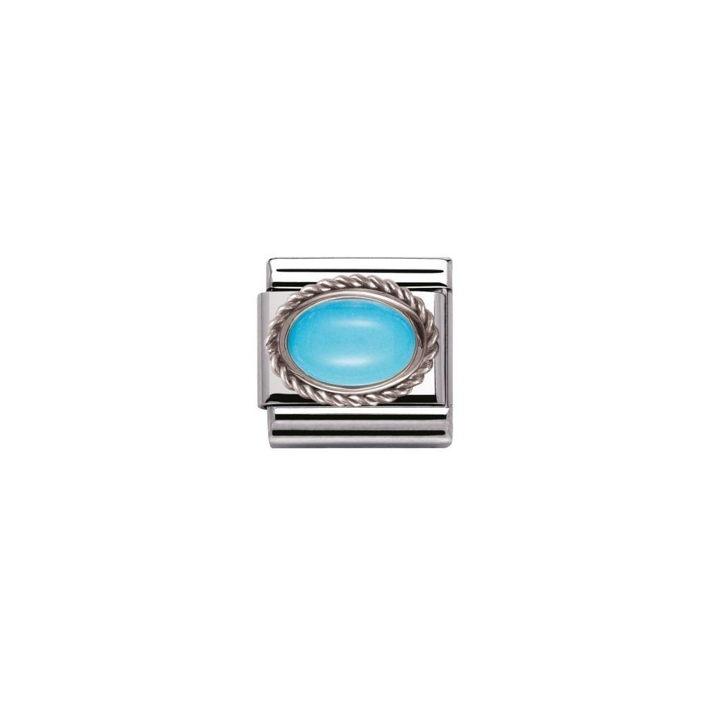 Nomination Silver Turquoise December Birthstone Oval Charm ...
