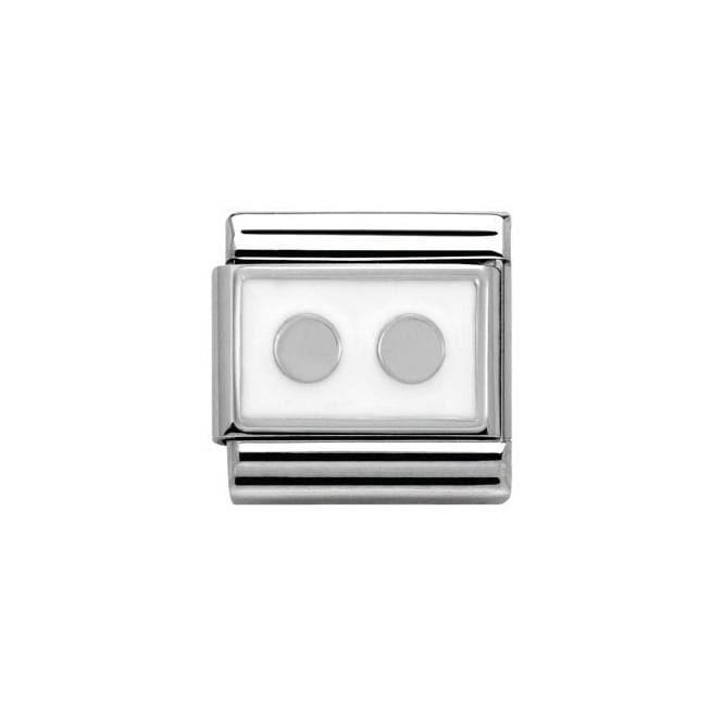 Nomination Silver White Dots Charm
