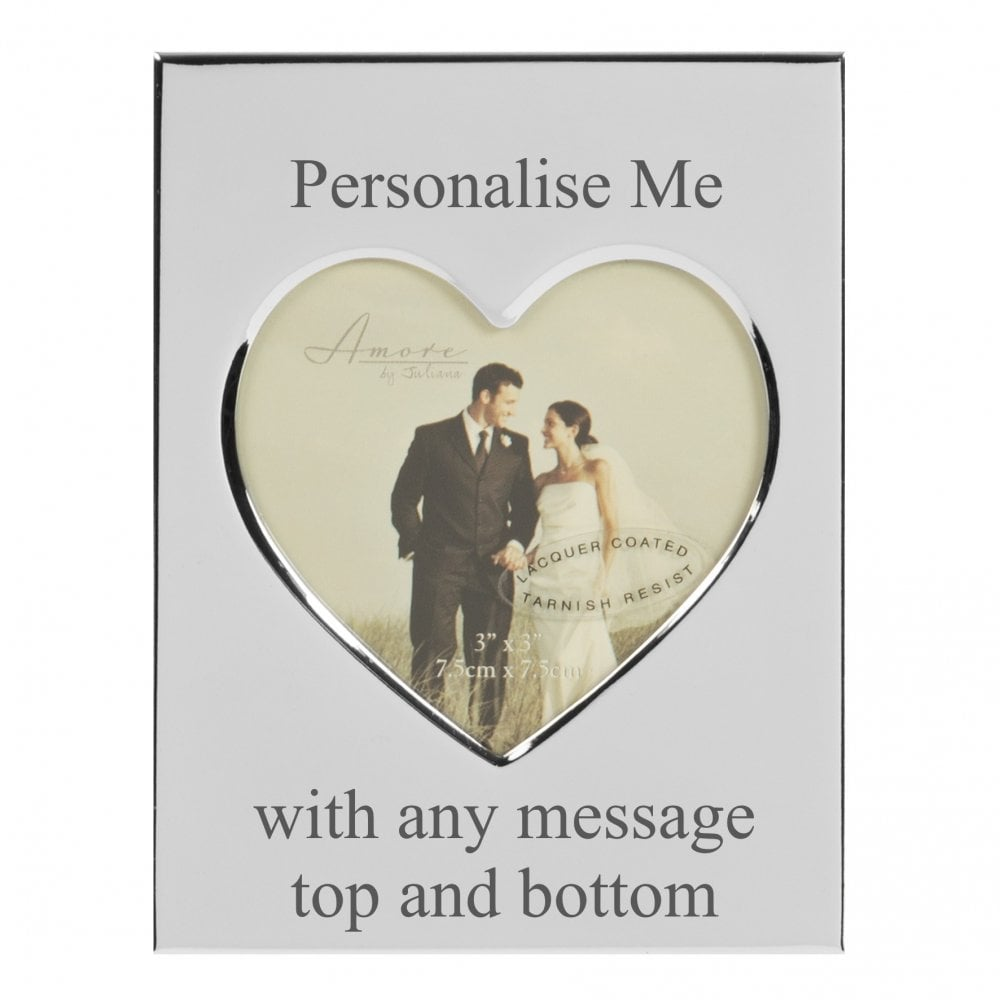 Personalised Heart Photo Frame - Giftware from 925 Treats UK