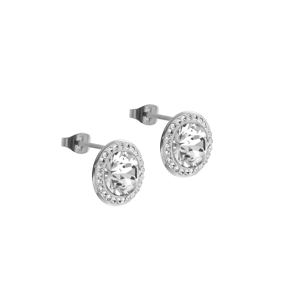 crystal swarovski stud lisa earrings angel white